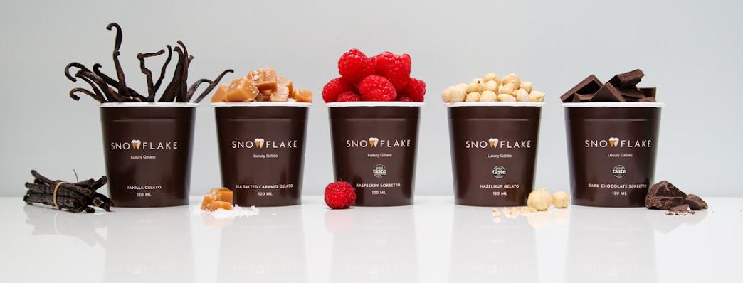 Snowflake Luxury Gelato retail tubs for wholesale