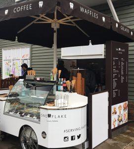 Bicester Village Snowflake Luxury Gelato Pop-up Cart