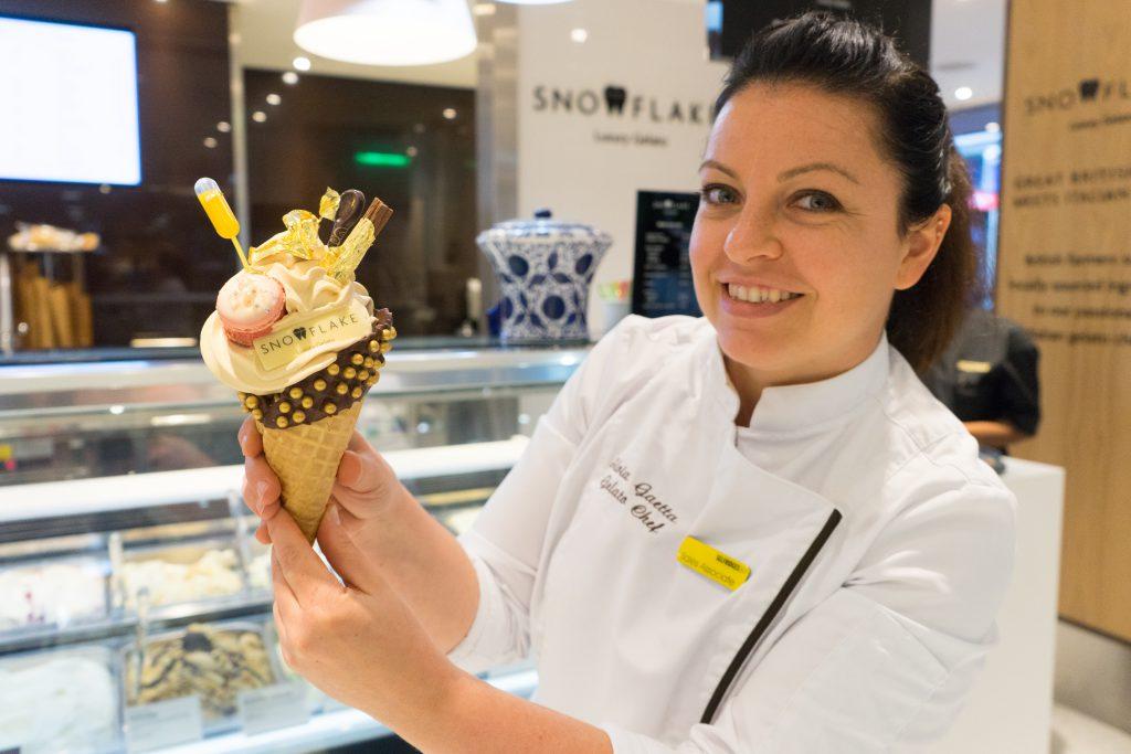 Silvia, the inventor of the Billionaire Soft Serve